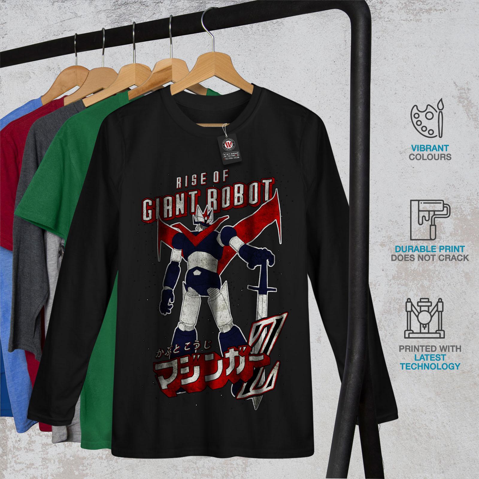 Rise Of Giant Robot Geek Tee Japan Style Men Long Sleeve T-shirt image 2