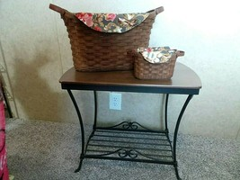 Longaberger LIBRARY TABLE Baskets Journal Protectors Liners Wrought Iron... - $395.99