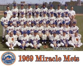 MLB 1969 World Champion Miracle Mets New York Mets Team Pic Color  8 X 1... - $4.99