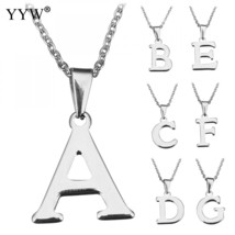 2018 Newest Fashion Letter Necklaces Pendants A to Z Stainless Steel Cho... - $9.82