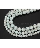 Natural Matte Kiwi Stone Gemstones Round Beads 15'' 4mm 6mm 8mm 10mm 12mm  - $2.90+