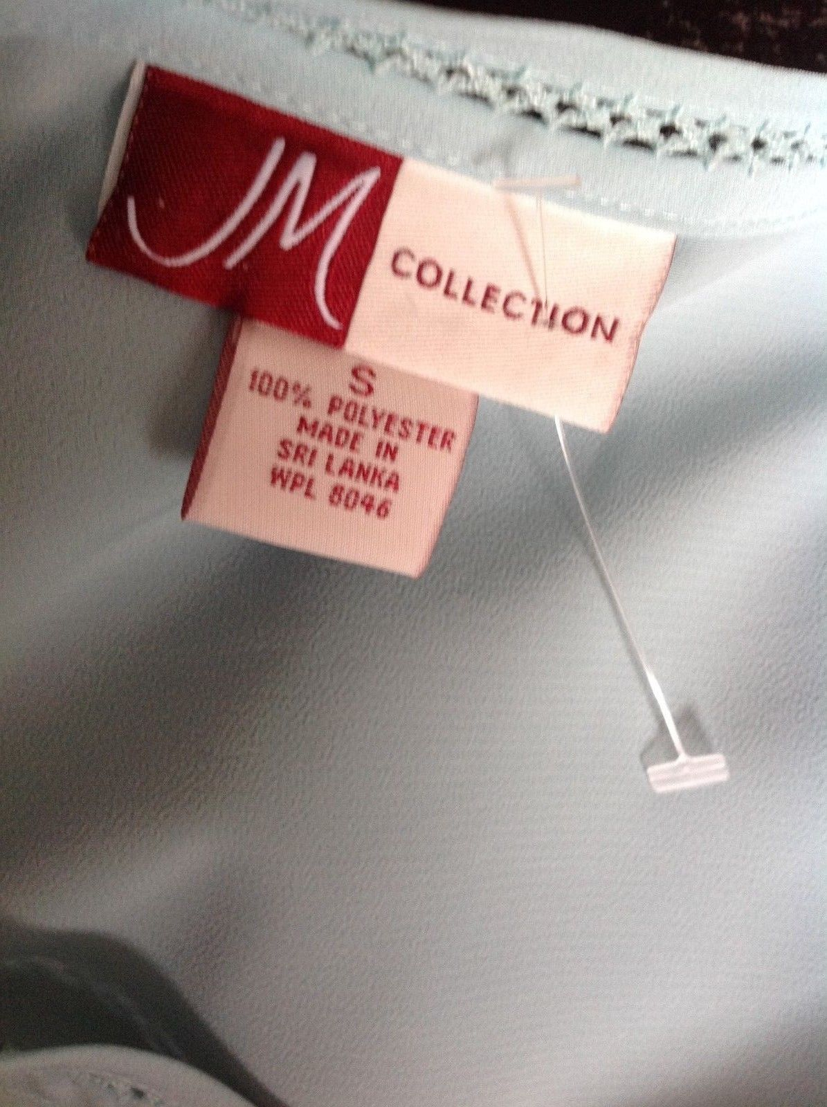 JM Collection Sleeveless Women's  Blouse Camisole Light Blue Size Small