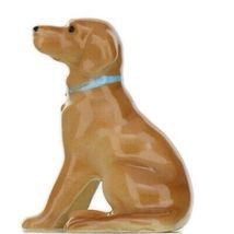 Hagen Renaker Dog Labrador Retriever Sitting Golden Ceramic Figurine image 9