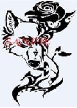 Fox and Rose Cross Stitch Chart - $8.00