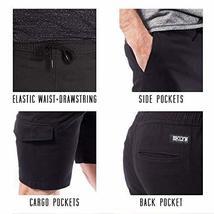 BROOKLYN ATHLETICS Men's Cargo Slim Fit Multi Pocket Stretch Twill Short, Navy,  image 3