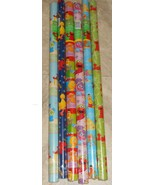 Sesame Street Elmo Cookie Monster Shower Gift Wrapping Paper 12.5 Sq Ft... - $7.00