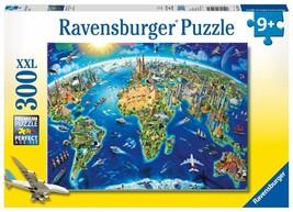 Ravensburger World Landmarks Map - 300 pc Puzzle - $18.06