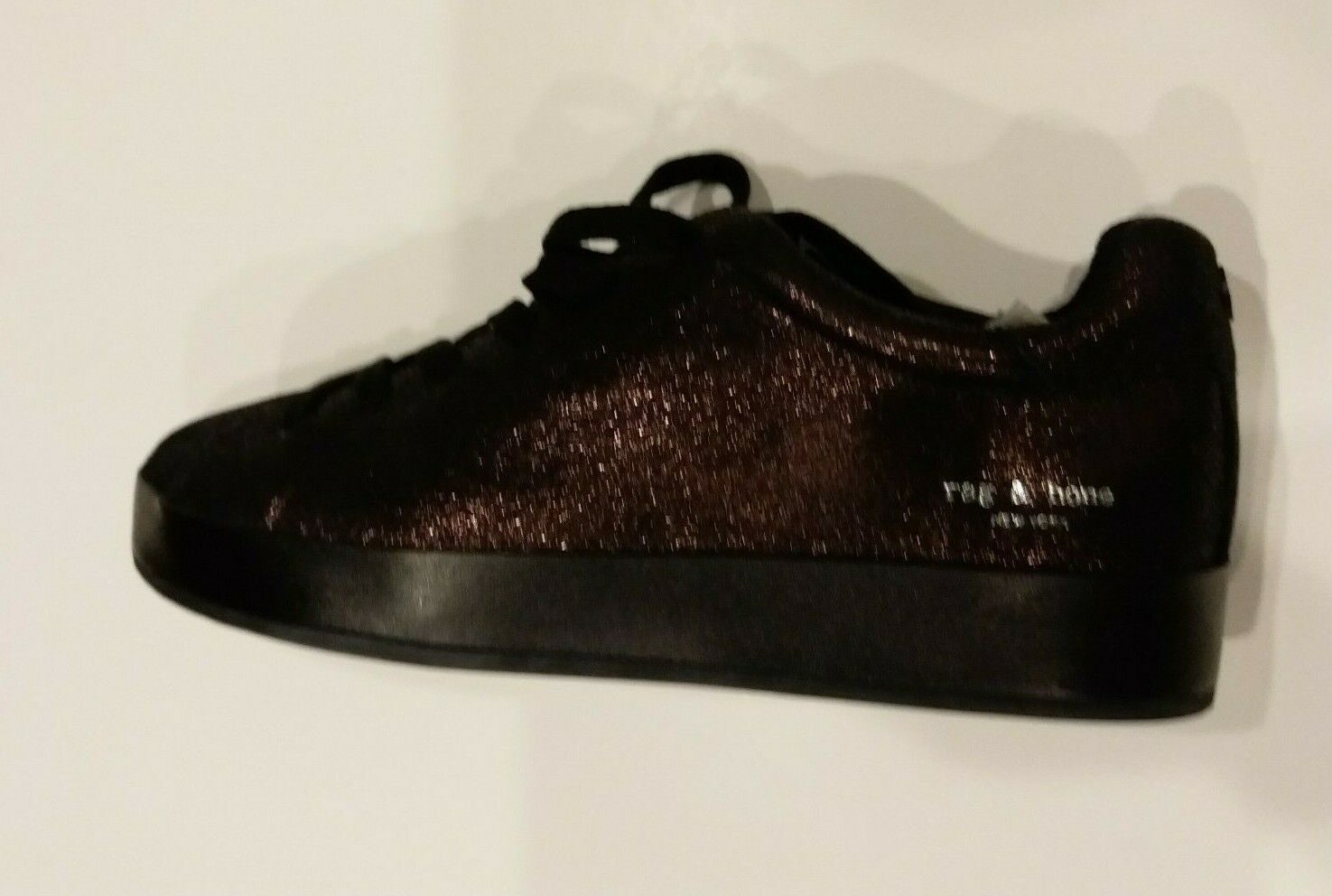Primary image for Rag & Bone RB1 Black Velvet Platform Sneakers, Women's Size 38.5