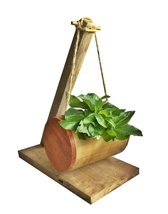 K'DAUZ Small Pots Plants Cylinder Bamboo and Wood - $59.00
