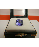 GIA certified Supreme 18.89ct Tanzanite cushion fancy cut - $13,499.00