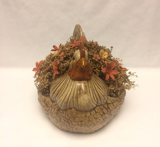 Vintage Arnel's pottery ceramic hen chicken planter flower pot 1970s image 3