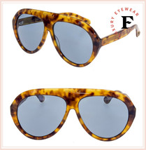 GUCCI 0479 Havana Blue Aviator Vintage Unisex Sunglasses GG0479S Authentic - $306.90