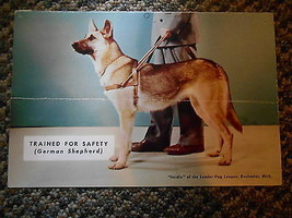 Old Vintage Calendar Picture Print Heidie German Shepherd Dog Trained fo... - $9.99