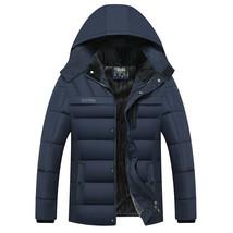 drop shipping Winter Jacket Men -20 Degree Thicken Warm Parkas Hooded Co... - $61.59