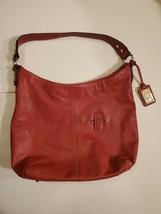 Tignanello Red Leather Hobo Shoulder Bag - $25.00