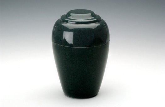 Grecian Green Granite Adult Funeral Cremation Urn, 190 Cubic Inches TSA Approved
