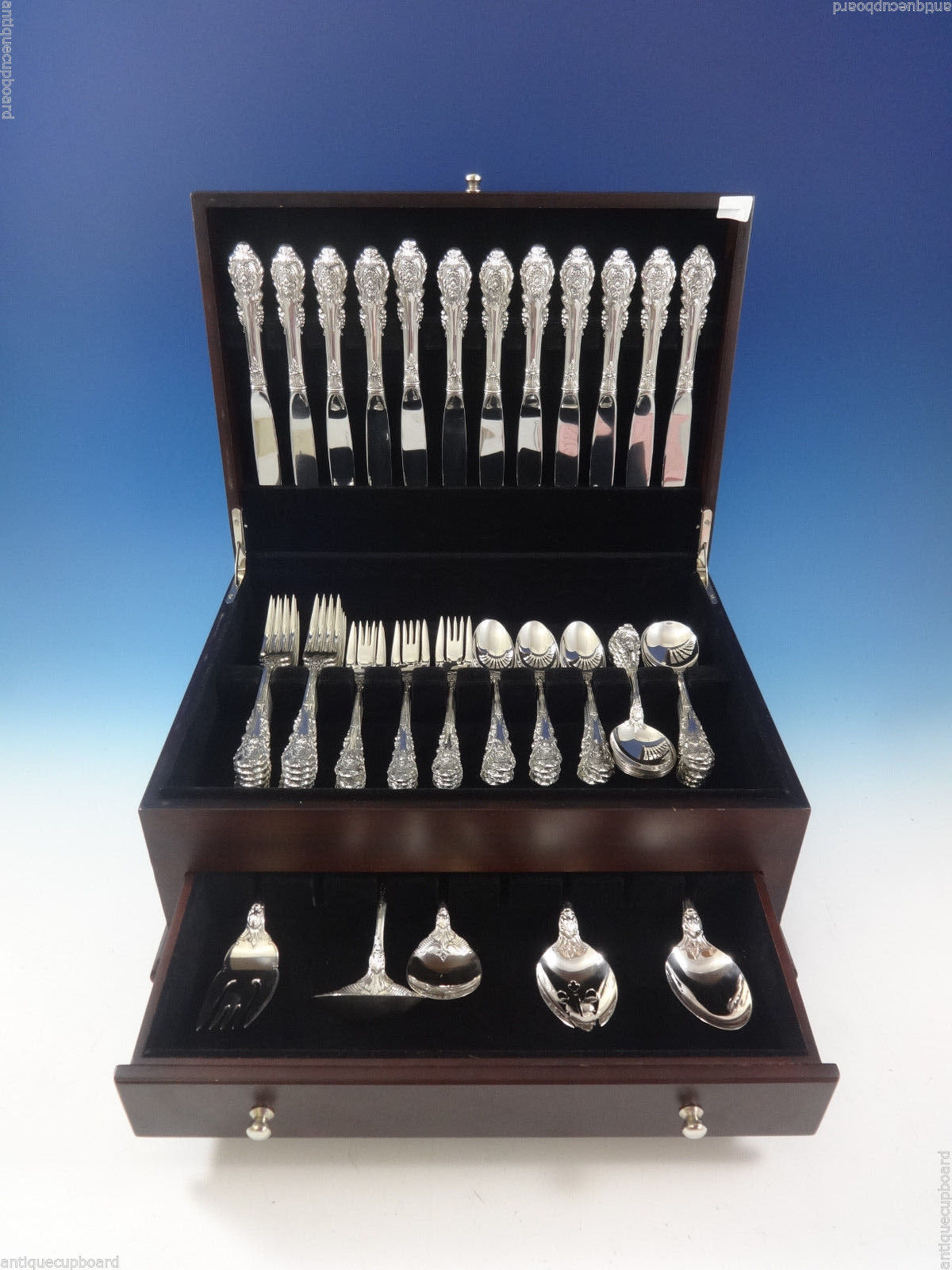 Primary image for Sir Christopher by Wallace Sterling Silver Flatware Set For 12 Service 65 Pieces