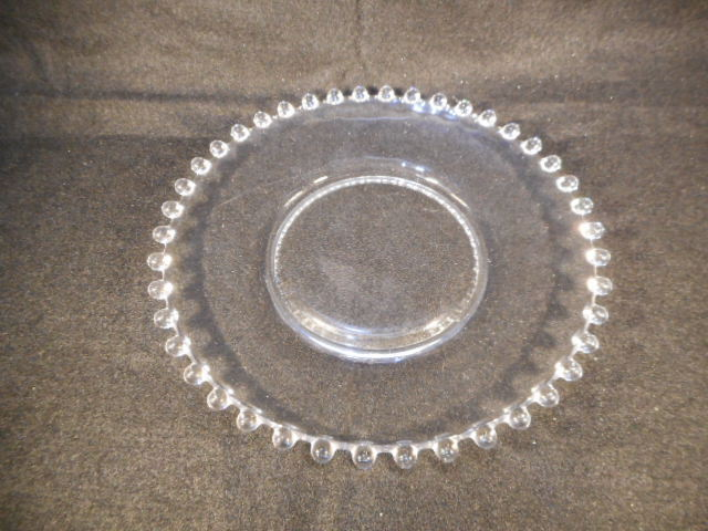 "Vintage Imperial Candlewick Clear Glass 7 1/4"" Dessert Salad Plate"