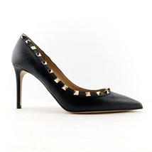 VALENTINO Size 9 ROCKSTUD Black Pebble Studded Heels Pumps Shoes 39.5 Eur - $598.00