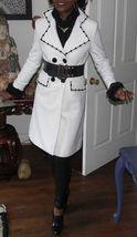 Vtg Dolce & Gabbana Classic WHITE & Black Wool COAT S - $989.99