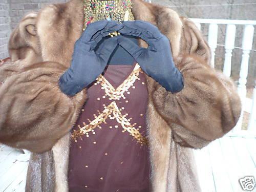 full length brown lunaraine Mink Fur coat jacket SM