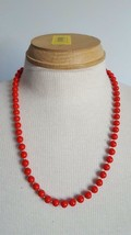 """24"""" BEAUTIFUL VINTAGE RED DAINTY BEAD NECKLACE STRAND, BRITE RED, SPRING... - $4.94"""