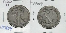 1935 D Walking Liberty Half Dollar Actual Photo of Coin CP9604 - $10.95