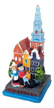 New Model Statue Miniature Netherlands Holland Amsterdam colorful House ... - $13.05