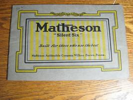 1912 Matheson Orphan Car Brochure Model B & C, Brewster Coachwork PA - $145.53