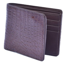 Friendly Don Juan Brown Multi Card Slots Genuine Crocodile Leather Men Wallet - $176.39