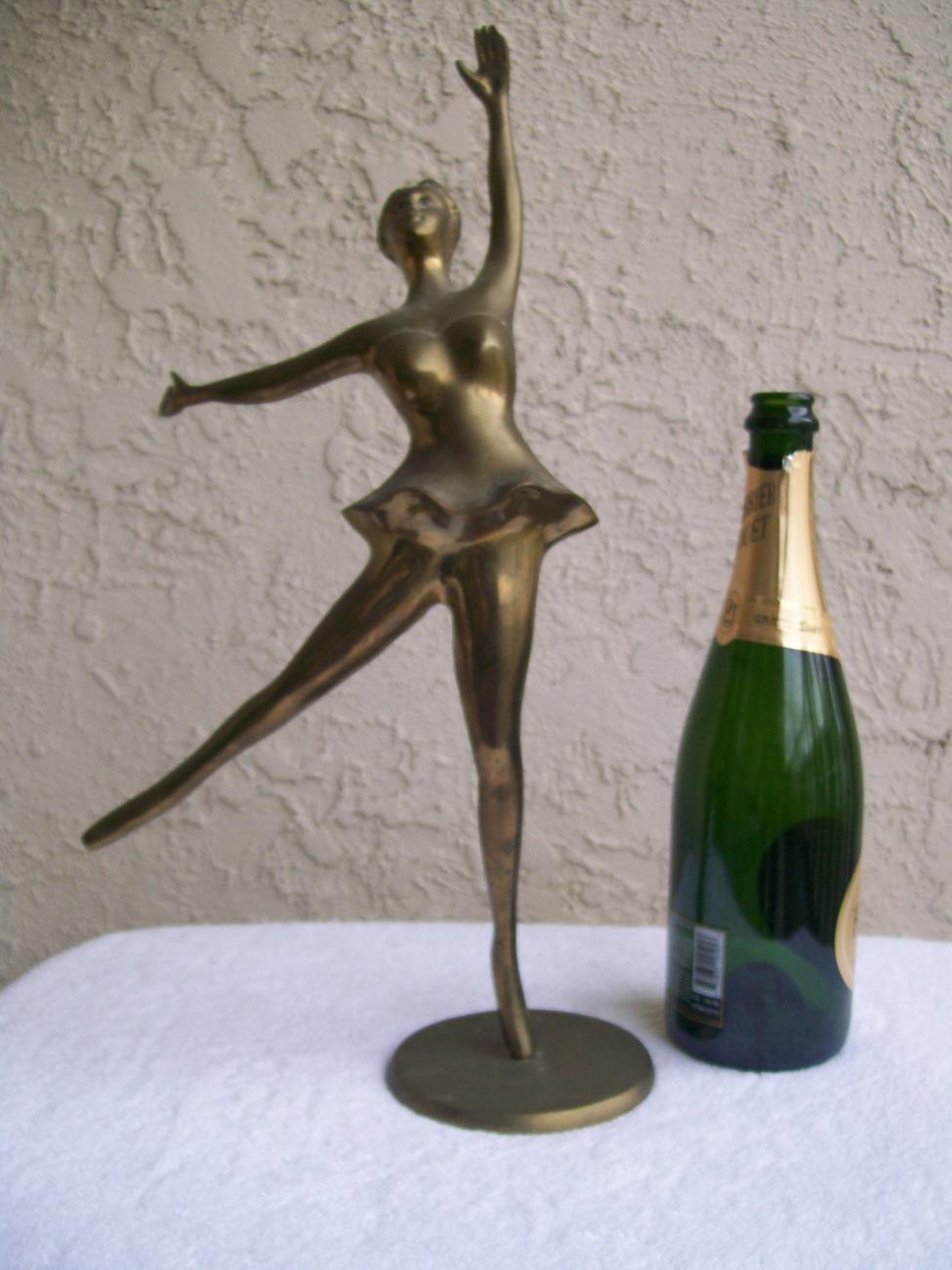 """Brass Ballerina Ballet Dancer Dancing Figure Sculpture 19"""""""