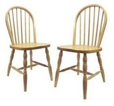 Set of 2, Windsor Chair turn legs, Assembled-Winsome - $151.98