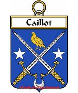 CAILLOT French Coat of Arms Print CAILLOT Famil... - $25.00