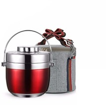 New Portable 304 Stainless Steel 12 Hours Insulated Lunch Box, Red, Cool... - $26.18