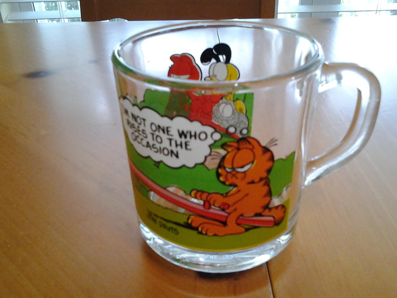 McDonald's Garfield Characters One Collectible Anchor Mug (1978-1980) VG