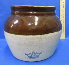 Vintage Robinson Ransbottom Bean Pot Blue Crown... - $18.80