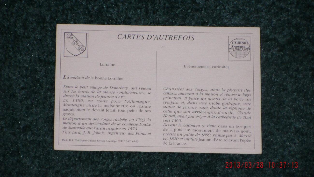 Postcard DOMREMY Le Monument Mercie et la Maison de Jeanne d'Arc Unposted  B+W