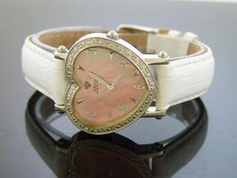 Swiss movt Aqua Master watch lady style 0.50ct diamond pink M-O-P - $143.55