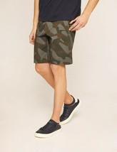 Armani Exchange Auténtica Geo Camo Shorts Elásticos Verde Nwt - $44.99
