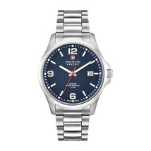 Mens Quartz Watch Swiss Military-OBSERVER_06-5277_04 Blue Stainless Steel Silver - $128.82