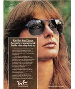 1976 Print Ad Bausch & Lomb RAY BAN Sunglasses ~ Pretty Girl Brunette - $5.49