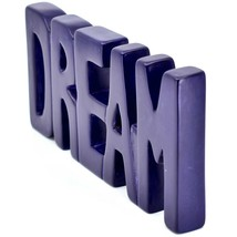 Vaneal Group Hand Carved Soapstone Purple DREAM Standing Word Paperweight image 2