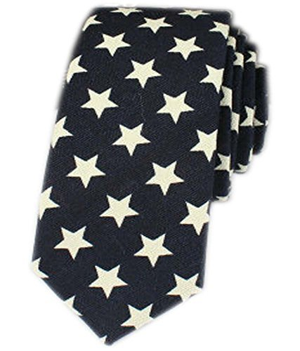 [Bright Star] Cool Skinny Neckties for Men&Boys Formal/Casual Wear Ties,57''
