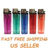 5 Full Size Disposable Classic Cigarette Lighters Mix Color Multipurpose... - $5.20
