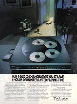 1989 Technics 5-Disc CD Changer  Print AD - Near Mint - $4.99