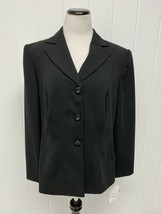 Sag Harbor Women's Suit Jacket Blazer Black Long Sleeve Padded Shoulders... - $19.70