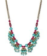 AUTHENTIC BETSEY JOHNSON BOHO BETSEY SHAKY TURQUOISE NECKLACE RETAIL $58... - $22.76