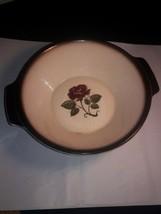 "Metlox Poppytrail Provincial Rose Serving Bowl 8"" Basket Weave Bottom Rare - $16.82"