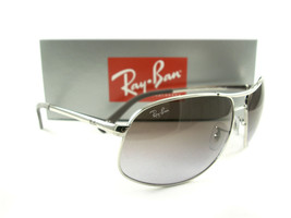 Ray-Ban Sunglasses RB3387 Silver Purple Violet 003/68 New Authentic - $139.00