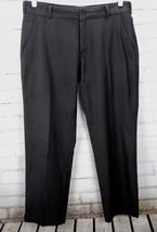 Nike Golf Pants Modern Tech Stretch Pants Flat Front Dress Mens 35x30 Black - $44.55